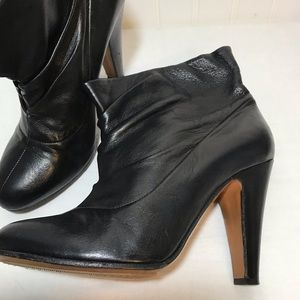 Moschino Leather Black Booties Like New 9